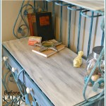 Upcycled-metal-bakers-rack-tutorial-including-how-to-paint-a-vintage-finish-on-wood-and-metal-in easy-steps-H2OBungalow