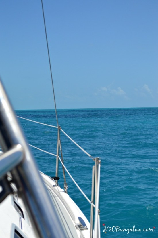 Blue water sailing on the East Coast of Fl Keys -H2OBungalow