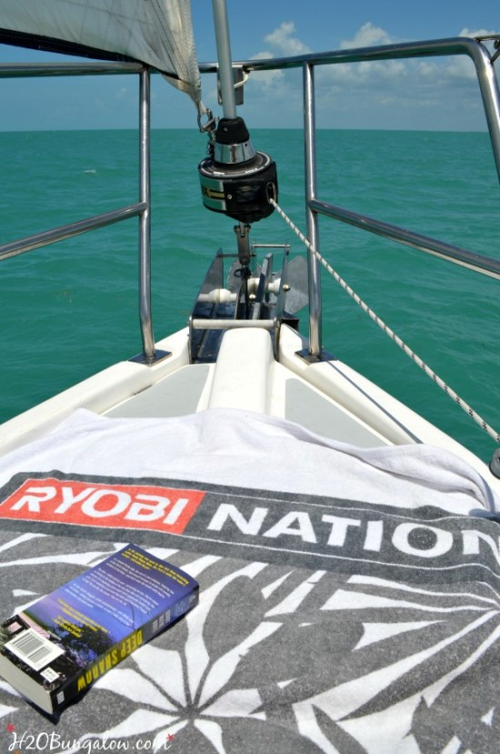 R&R on the sail home from Key West Fl H2OBungalow