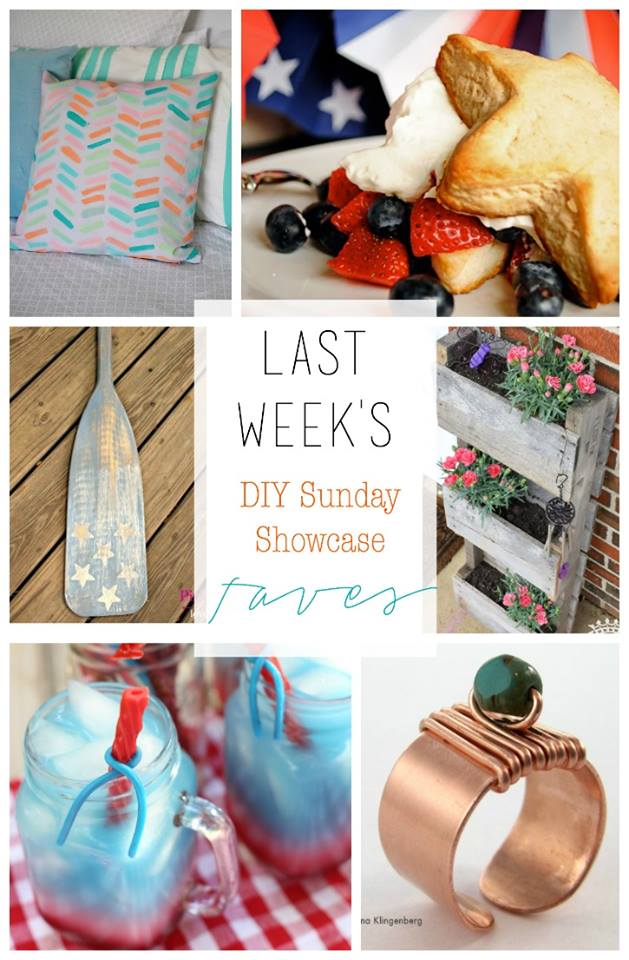 This weeks DIY Sunday Showcase Features are creative, patriotic and will knock your socks off!  Stop by to see all our fantastci feautures and links to each talented feature by H2OBungalow