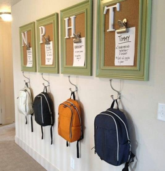 Entryway-organization-for-back-to-school