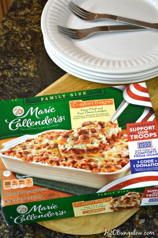 Purchase participating Marie Callenders products, enter the code on the box to help Comforts From Home Project and help make a deployed military member's holiday special this year. Find out more at H2OBungalow.com