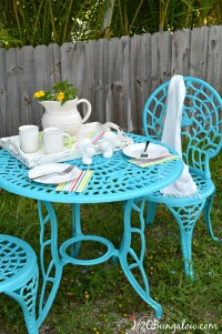 How To Spray Paint Metal Outdoor Furniture To Last A Long ...