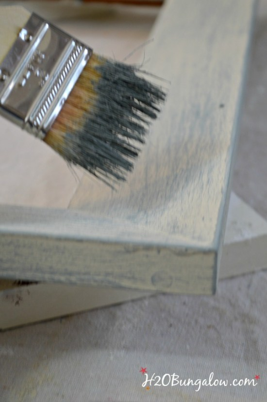 DIY painted serving tray from a picture frame H2OBungalow