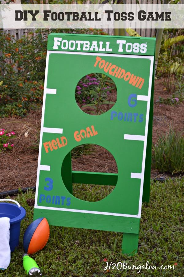 Fl Gators DIY Football Toss Game For Home Depot DIY