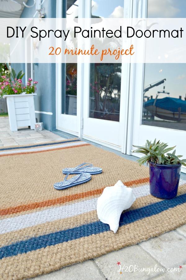 Easy Diy Painted Doormat Tutorial H20bungalow