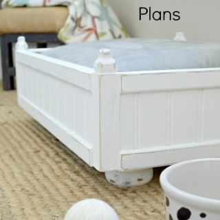 Free DIY small pet bed plans for a cat or small pet. Simple tutorial with steps and photos for the intermediate woodworker or power tool user.