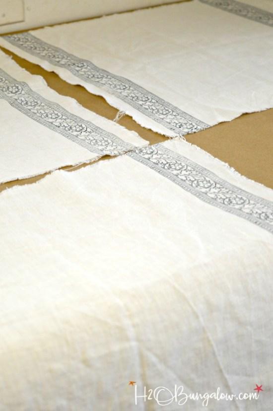DIY Stamped No Sew Linen Napkins - H20Bungalow
