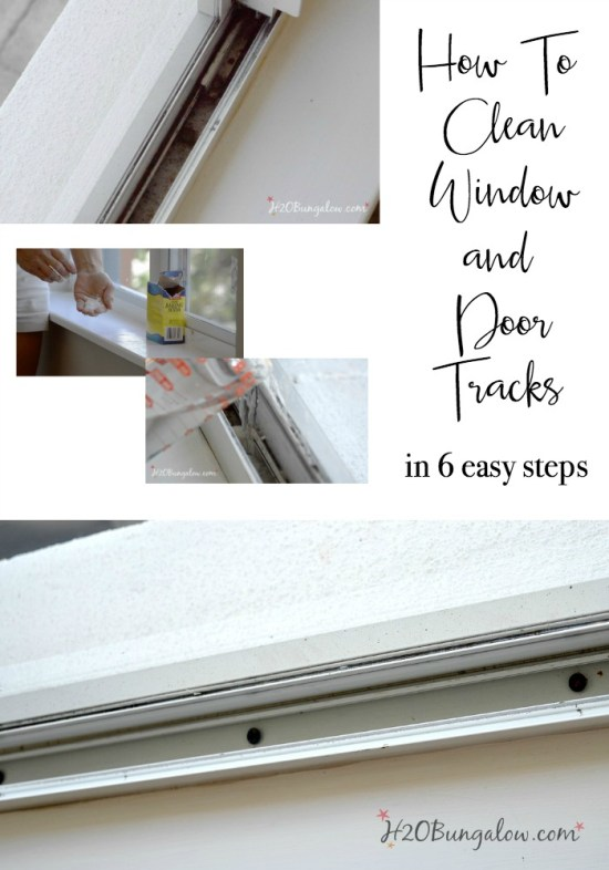 How to clean window and door tracks in a few steps so they move smoothly and look great using items from your kitchen No scrubbing needed!