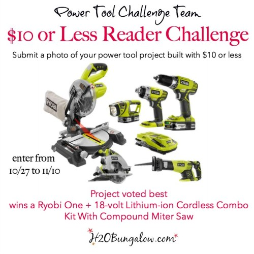 $10 power tool project challenge. Join in with the Power Tool Project Team and share your project this month.