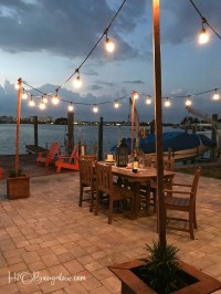 DIY Outdoor String Lights on Poles - H20Bungalow