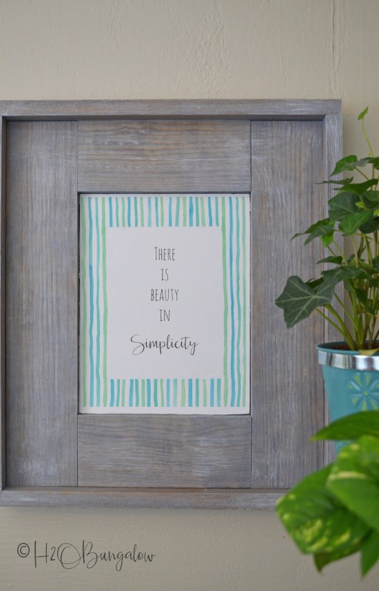 easy to follow tutorial and video on how to build an easy diy rustic picture frame