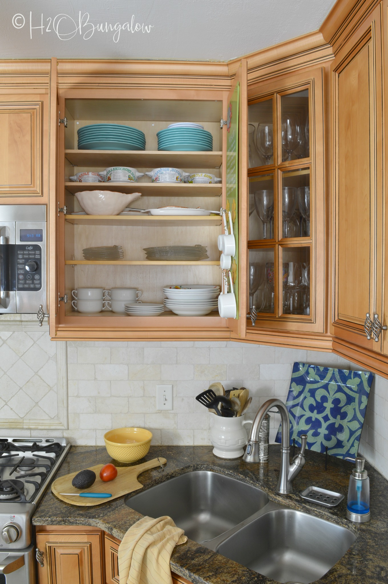 How To Add Extra Shelves To Kitchen Cabinets H20Bungalow