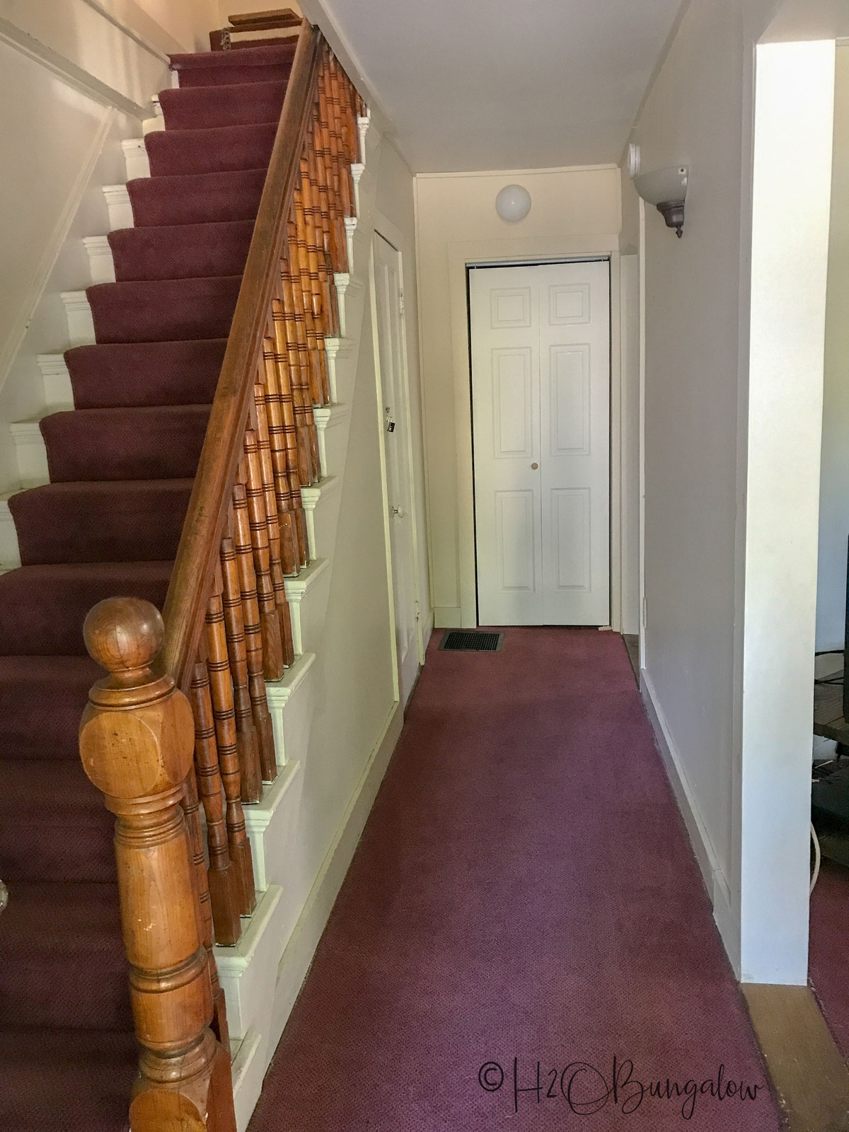 How To Install Carpet Runner On Stairs H2Obungalow | Roll Runners For Stairs | Flooring | Carpet Stair Treads | Canyon Kazmir | Persian Garden | Area Rugs