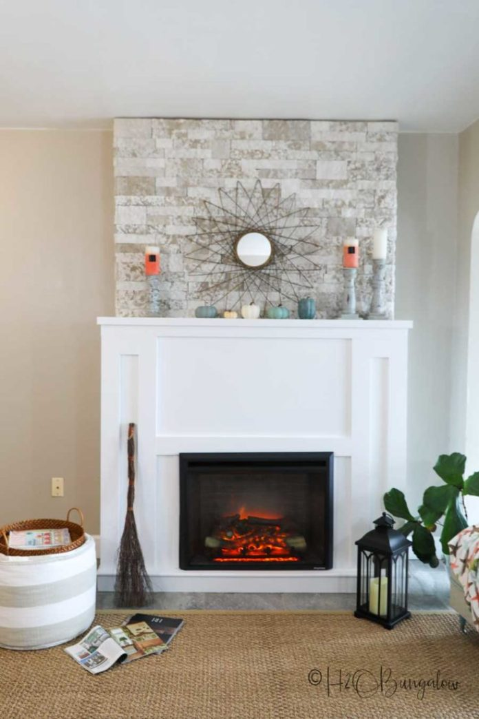 How To Build A Diy Fireplace With Electric Insert H2obungalow