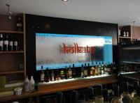 h2o designs water wall back bar kolkata lounge