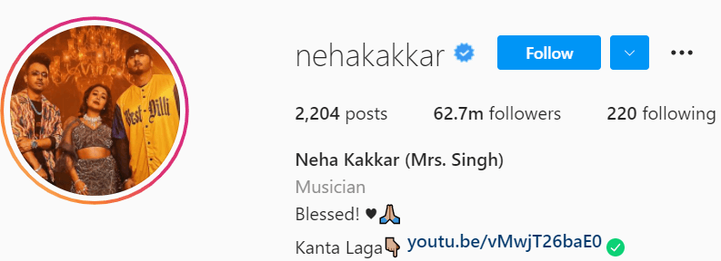 Biography of Neha Kakkar