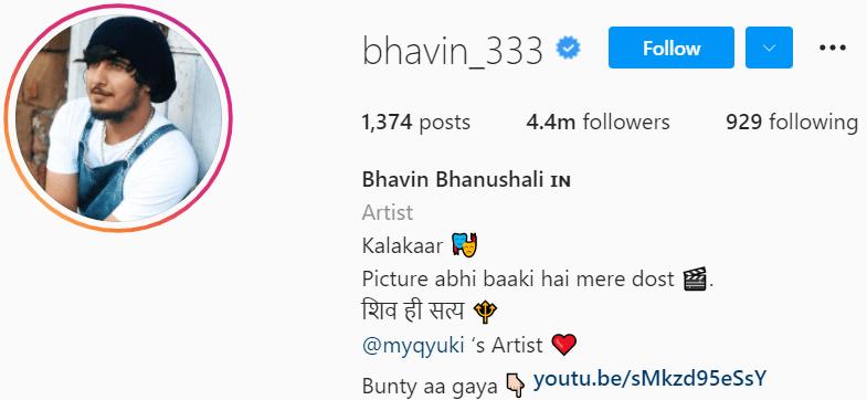 Biography of Bhavin Bhanushali