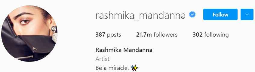 Biography of Rashmika Mandanna