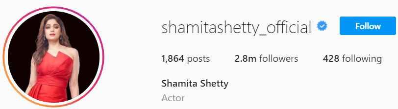 Biography of Shamita Shetty
