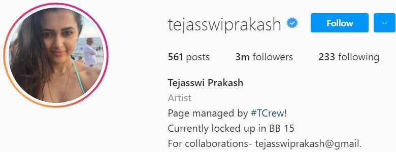Biography of Tejaswi Prakash