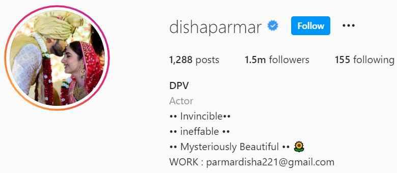 Biography of Disha Parmar