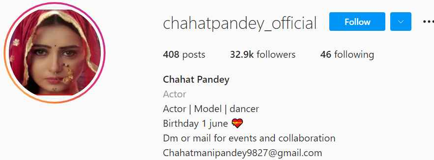 Biography of Chahat Pandey