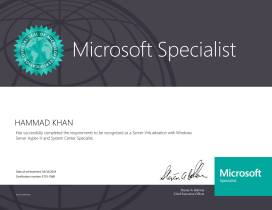 Microsoft Certified Professional Exam (Server Virtualization with Windows Server Hyper-V and System Center Specialist)