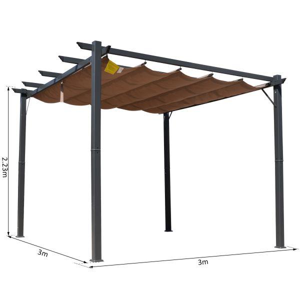 h4home garden gazebo pergola outdoor patio canopy awning 3x3 sun shelter h4home furnitures