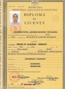 Diplomă licență