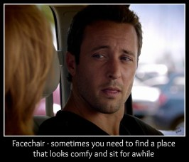 Facechair - sometimes you need to find a place that looks comfy and sit for awhile Credit: @DemiGoddess13