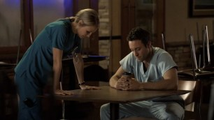She's acting like she's comforting him but really she's checking the stability of that table. For reasons. #smart girl