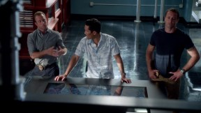 "Danny and Chin try to solve the case while McG muses, ""My god I'm a handsome devil!"""