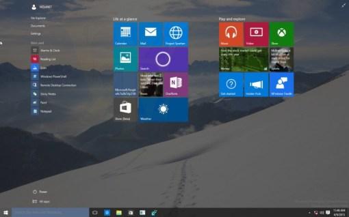 windows 10 pc interface