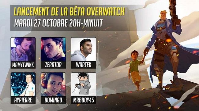 soiree lancement beta overwatch