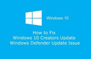 Solution Windows pour la Creators Update
