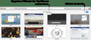 Fonctionnalité Meilleurs Sites de Safari
