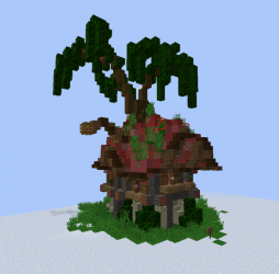 Fantasy Elven Unfurnished Small House 2 Blueprints for MineCraft Houses Castles Towers and more GrabCraft