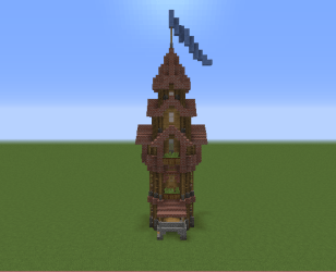 Medieval Fantasy Mage Tower Blueprints for MineCraft Houses Castles Towers and more GrabCraft