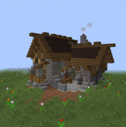 Medieval Small Blacksmith s House Blueprints for MineCraft Houses Castles Towers and more GrabCraft