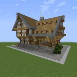 Reinhart Butcher Shop Blueprints for MineCraft Houses Castles Towers and more GrabCraft