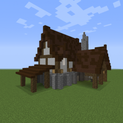 Simple Medieval Blacksmith Blueprints for MineCraft Houses Castles Towers and more GrabCraft