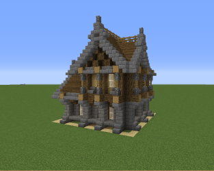 Small Medieval House 7 Blueprints for MineCraft Houses Castles Towers and more GrabCraft