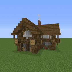 Small Village Rustic House 1 Blueprints for MineCraft Houses Castles Towers and more GrabCraft