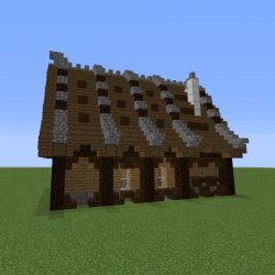 Stylish Medieval House 2 Blueprints for MineCraft Houses Castles Towers and more GrabCraft