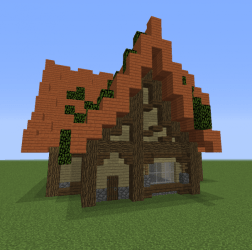 Unfurnished Fantasy House 19 Blueprints for MineCraft Houses Castles Towers and more GrabCraft
