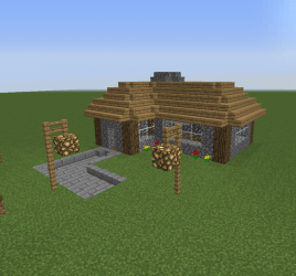 Village Small Cottage 2 Blueprints for MineCraft Houses Castles Towers and more GrabCraft