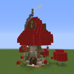Wizard Mushroom House Blueprints for MineCraft Houses Castles Towers and more GrabCraft