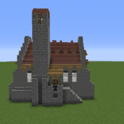 Small Medieval Chapel Blueprints for MineCraft Houses Castles Towers and more GrabCraft