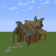 Medieval Houses Blueprints for MineCraft Houses Castles Towers and more GrabCraft